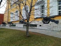 克里姆林宫武库在莫斯科,俄罗斯开枪大炮 免版税库存照片