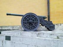 克里姆林宫武库枪& x28; cannon& x29;在莫斯科,俄罗斯 免版税库存照片