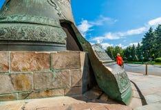 克里姆林宫游览23 :问题的Th的沙皇响铃缺点  免版税库存图片