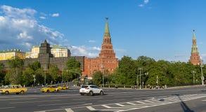 克里姆林宫的全景在莫斯科,俄罗斯- 2018年5月13日 库存照片