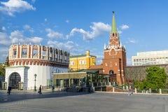 克里姆林宫的全景在莫斯科,俄罗斯- 2018年5月13日 免版税图库摄影