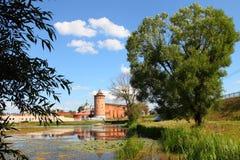 克里姆林宫的强有力的墙壁 免版税库存照片