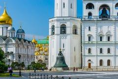 克里姆林宫的沙皇响铃 免版税图库摄影