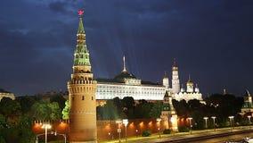 克里姆林宫的看法,莫斯科,俄罗斯--莫斯科普及的见解  股票录像