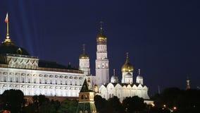 克里姆林宫的看法,莫斯科,俄罗斯--莫斯科普及的见解  股票视频