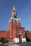 克里姆林宫的Spasskaya塔。俄罗斯 免版税图库摄影