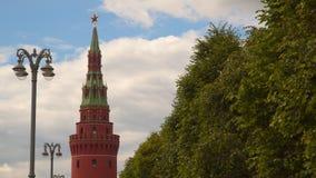 克里姆林宫的Vodovzvodnaya Sviblova塔 股票视频
