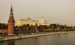 克里姆林宫码头在莫斯科 图库摄影