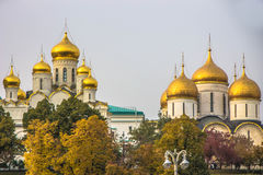克里姆林宫码头在莫斯科 免版税库存图片