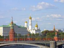 克里姆林宫莫斯科俄国视图 库存照片