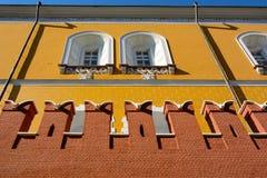 克里姆林宫莫斯科墙壁 库存照片