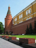 克里姆林宫莫斯科墙壁 图库摄影