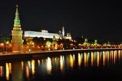 克里姆林宫莫斯科晚上scence 免版税图库摄影