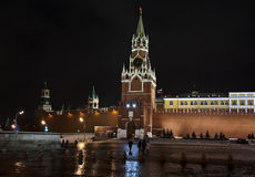克里姆林宫莫斯科红色spasskaya正方形塔 库存图片