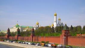 克里姆林宫莫斯科 全部克里姆林宫宫殿 响铃极大的ivan塔 天使大教堂 17第19个通告大教堂世纪城市哈尔科夫地标乌克兰 股票视频