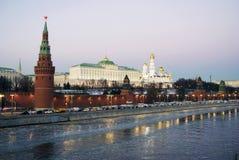 克里姆林宫莫斯科 夜间天空天空纹理 彩色照片 免版税库存照片