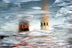 克里姆林宫莫斯科 彩色照片 抽象反映水 库存图片