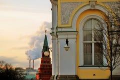 克里姆林宫莫斯科 彩色照片 库存图片