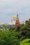 克里姆林宫莫斯科 科教文组织世界遗产站点 基督救世主教会 免版税图库摄影