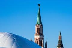 克里姆林宫莫斯科nikolskaya塔 免版税库存照片
