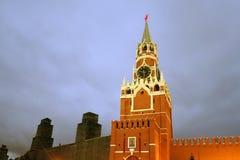 克里姆林宫莫斯科spasskaya塔 科教文组织世界遗产站点 免版税库存照片