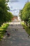 克里姆林宫,中央大道 免版税库存照片