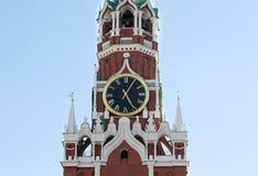 克里姆林宫,俄罗斯的克里姆林宫时钟 免版税库存图片