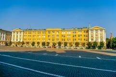 克里姆林宫,俄罗斯Ivanovskaya方形的近的第14个大厦  免版税库存照片