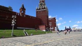 克里姆林宫,莫斯科,俄罗斯斯帕斯基塔  股票录像