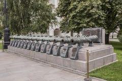 克里姆林宫 17-18个世纪俄国作战枪  库存照片