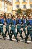 克里姆林宫总统军团,仪式改变卫兵 莫斯科俄国 图库摄影