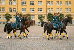 克里姆林宫总统军团,仪式改变卫兵 莫斯科俄国 库存图片