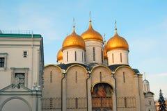 克里姆林宫Dormition大教堂  彩色照片 图库摄影