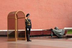 克里姆林宫hounor卫兵在莫斯科 图库摄影