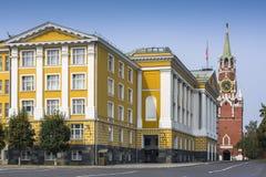 克里姆林宫Ivanovskaya方形的近的第14个大厦  免版税库存图片
