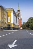 克里姆林宫Ivanovskaya方形的近的第14个大厦  库存照片