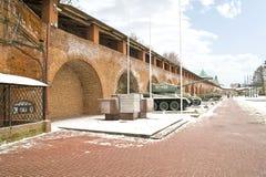 克里姆林宫Nizhny Novgorod 背景能堡垒照片使用的墙壁 图库摄影