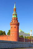 克里姆林宫Vodovzvodnaya塔 库存照片