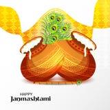 克里希纳Birthday阁下愉快的Janmashtami印地安节日  皇族释放例证