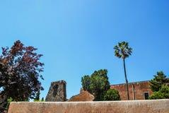 克里斯多Al Monte教会在Paterno 西西里岛 库存照片