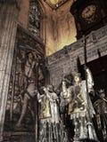 克里斯托弗・哥伦布坟茔在大教堂里在塞维利亚在安达卢西亚西班牙 免版税库存图片