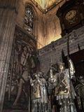克里斯托弗・哥伦布坟茔在大教堂里在塞维利亚在安达卢西亚西班牙 免版税库存照片