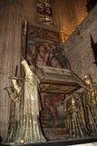 克里斯托弗・哥伦布坟茔在大教堂里在市塞维利亚在Andaucia南西班牙 库存图片