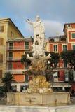 克里斯托弗・哥伦布雕象圣诞老人的马尔盖里塔,意大利 免版税库存照片