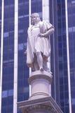 克里斯托弗・哥伦布,纽约, NY雕象  免版税库存图片
