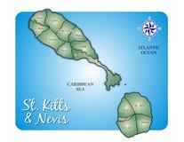 克里斯托弗海岛基茨希尔・尼维斯岛&# 免版税库存照片