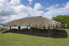 克里斯托弗・哥伦布房子废墟La伊莎贝拉解决的在普拉塔港,多米尼加共和国 图库摄影