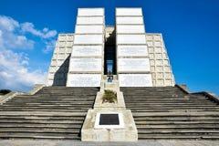 克里斯托弗・哥伦布灯塔外视图在蓝天的 圣多明哥,多米尼加共和国西部区域  库存图片