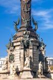 克里斯托弗・哥伦布纪念品,巴塞罗那,西班牙 免版税库存照片