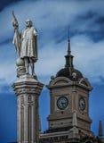 克里斯托弗・哥伦布雕象在马德里西班牙 免版税库存图片